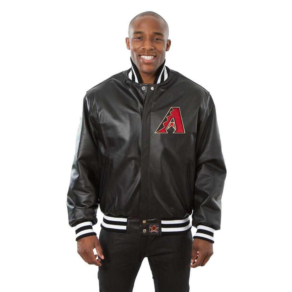 JH デザイン JH Design メンズ アウター レザージャケット【Arizona Diamondbacks Adult Leather Jacket】Black