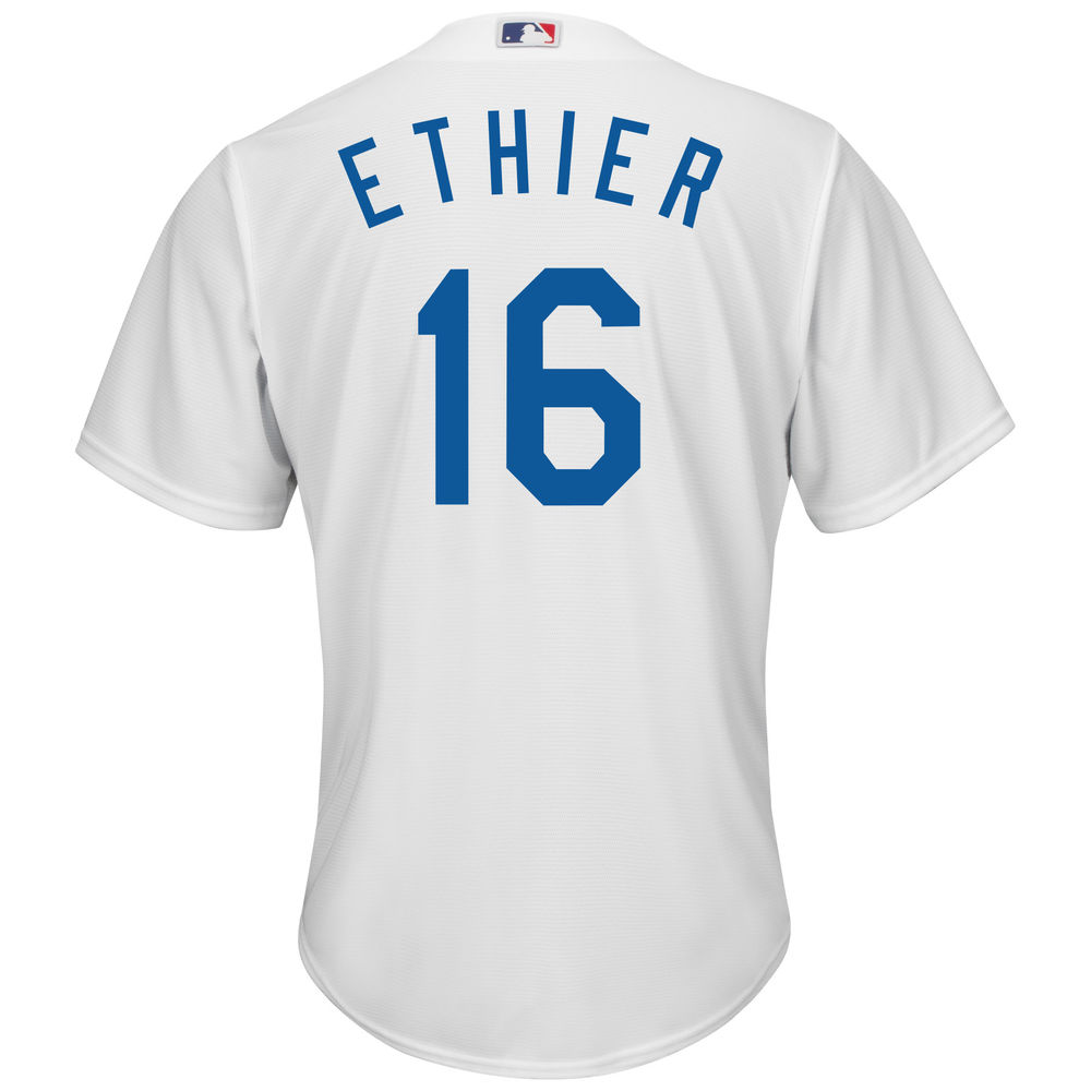マジェスティック Majestic メンズ トップス【Los Angeles Dodgers Andre Ethier Adult Cool Base Replica Jersey】White