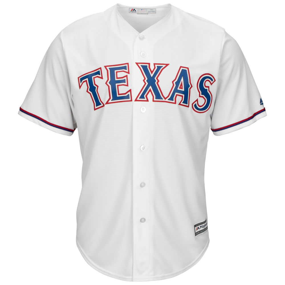 マジェスティック Majestic メンズ トップス【Texas Rangers Adult Cool Base Replica Jersey】White
