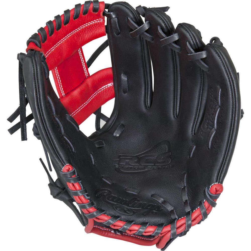 ローリングス Rawlings ユニセックス 野球 グローブ【RCS Series 12.5 Inch Left Hand Throw Baseball Glove】Black/Red