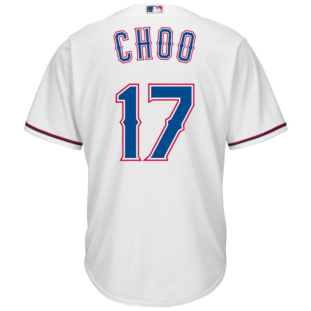 マジェスティック Majestic メンズ トップス【Texas Rangers Shin-Soo Choo Adult Cool Base Replica Jersey】White
