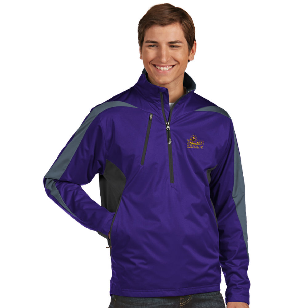 アンティグア Antigua メンズ トップス【East Carolina Pirates Discover Water Resistant 1/2 Zip Pullover】Purple/Grey