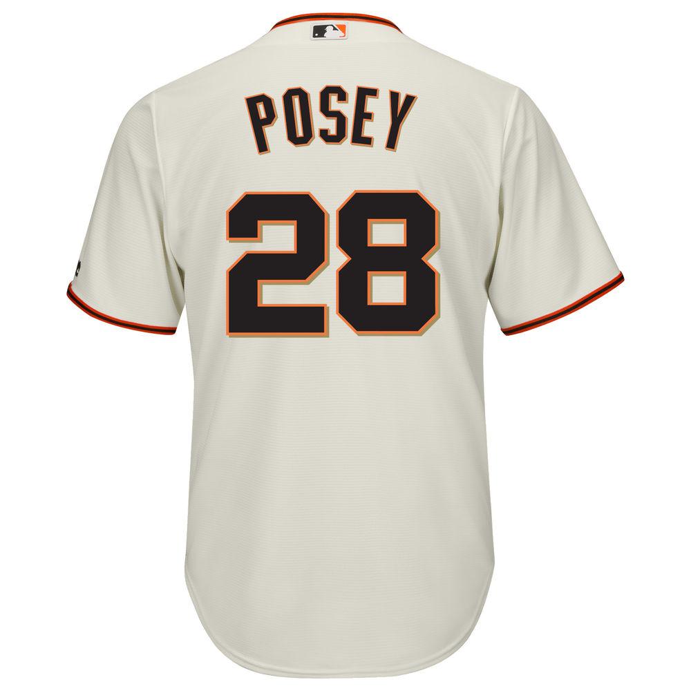 マジェスティック Majestic メンズ トップス【San Francisco Giants Buster Posey Adult Cool Base Replica Jersey】Ivory