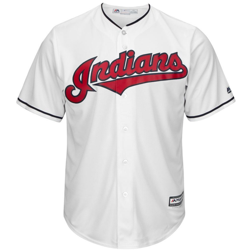 マジェスティック Majestic メンズ トップス【Cleveland Indians Adult Cool Base Replica Jersey】White