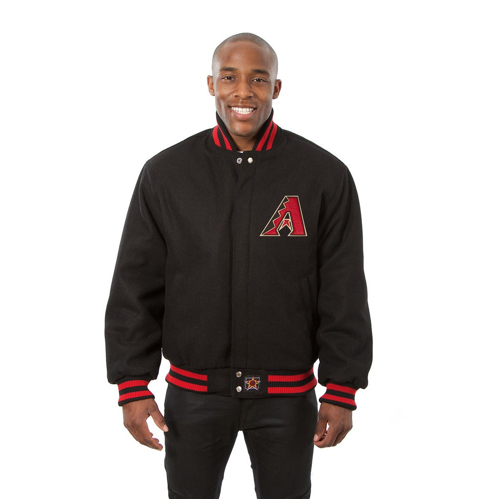 JH デザイン JH Design メンズ アウター ジャケット【Arizona Diamondbacks Adult Wool Jacket】Black