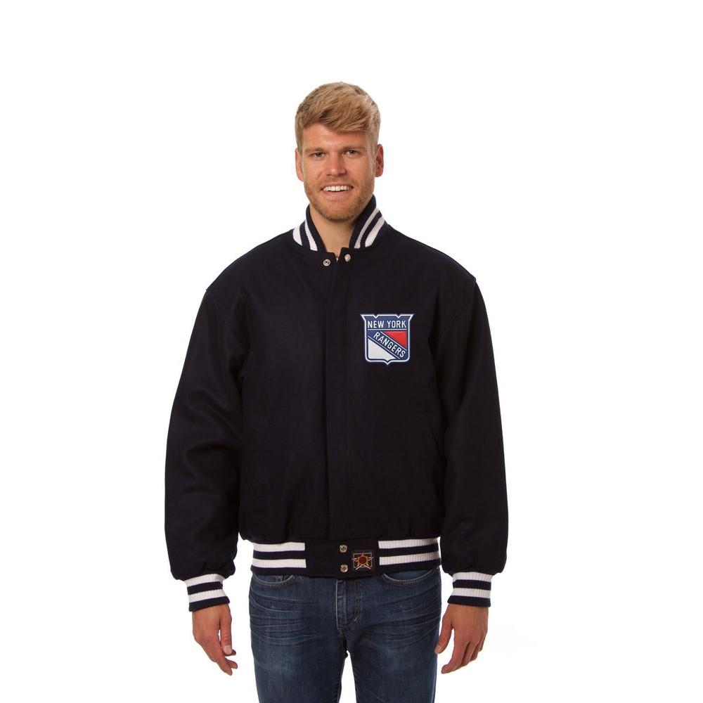 JH デザイン JH Design メンズ アウター ジャケット【New York Rangers Adult Wool Jacket】Navy