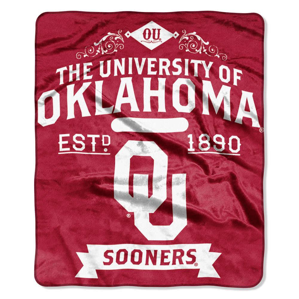 ノースウエスト Northwest ユニセックス マフラー・スカーフ・ストール【Oklahoma Sooners Label Raschel Throw】