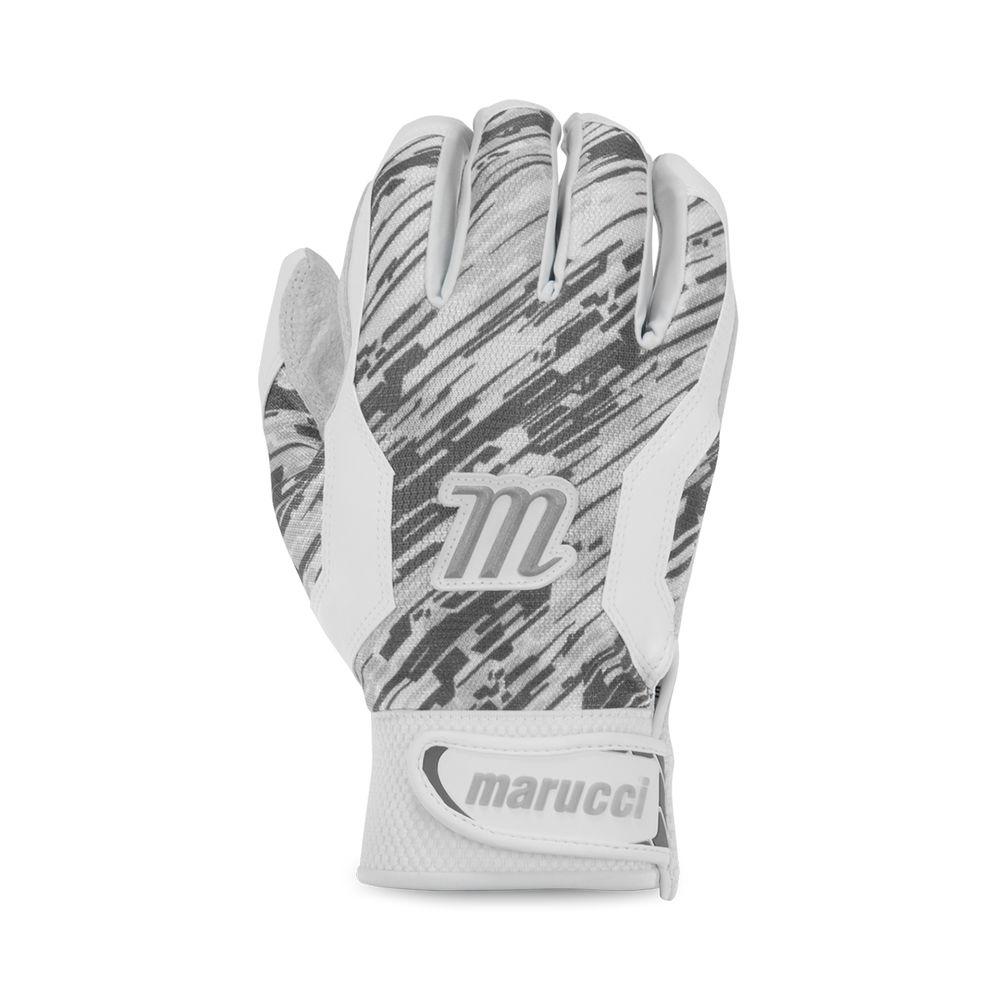 マルッチ Marucci ユニセックス 野球 グローブ【Adult Quest Baseball Batting Gloves】White/Grey
