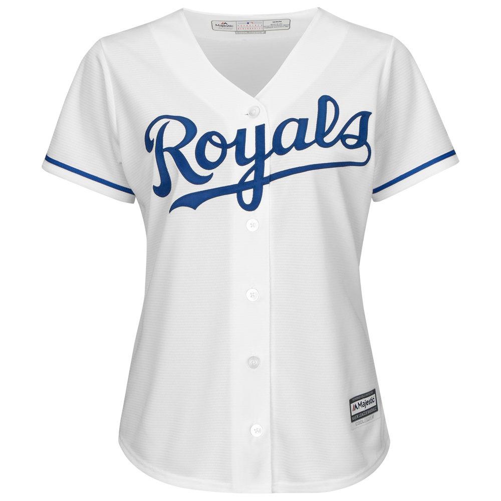 マジェスティック Majestic レディース トップス【Kansas City Royals Cool Base Replica Jersey】White
