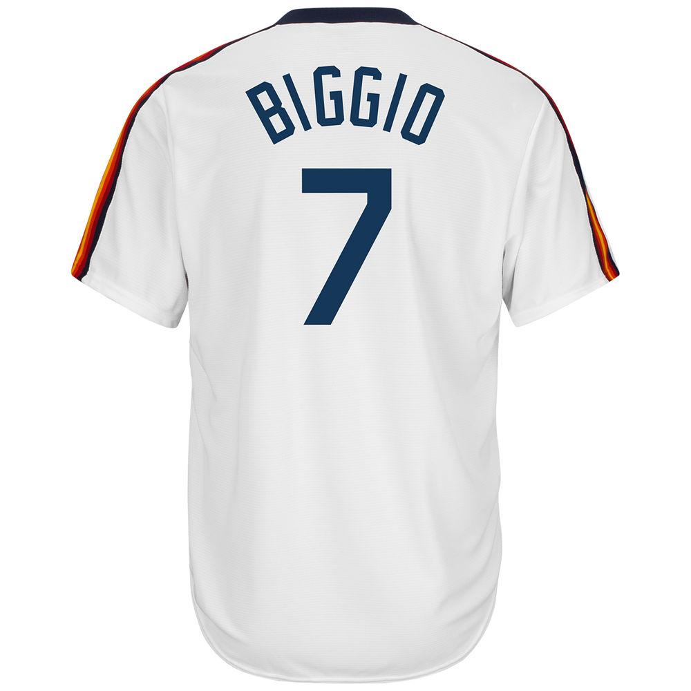 マジェスティック Majestic メンズ トップス【Houston Astros Adult Craig Biggio Cooperstown Collection Jersey】