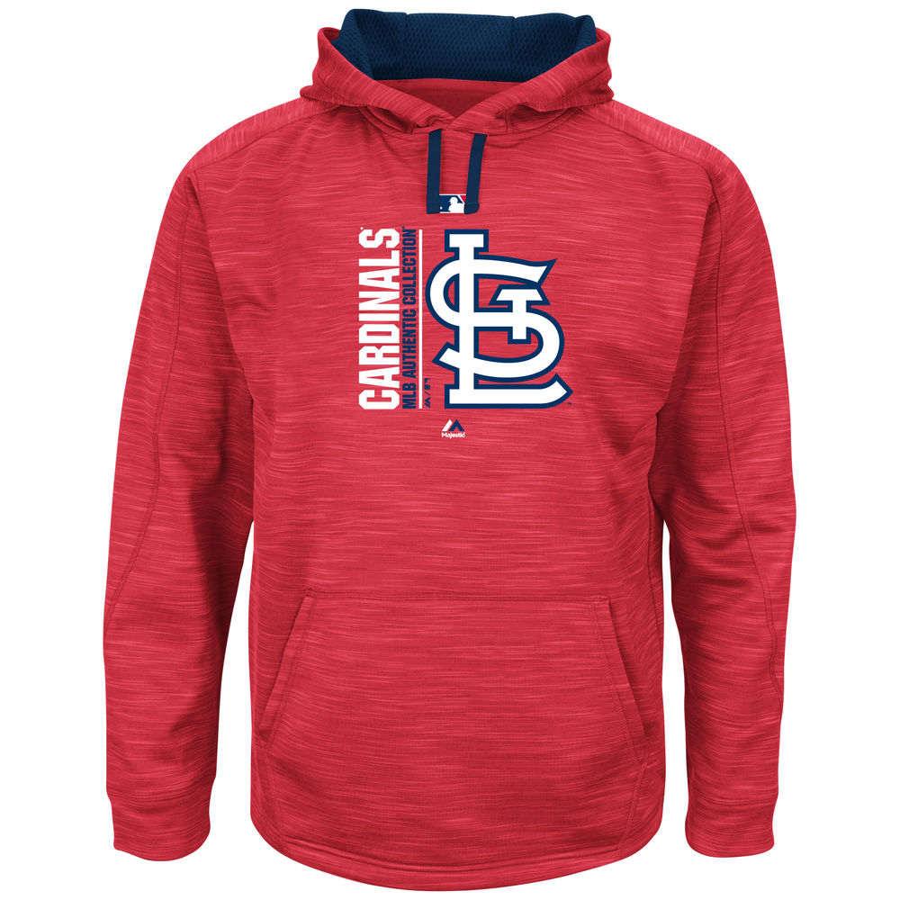 マジェスティック Majestic メンズ トップス フリース【St. Louis Cardinals Big Authentic Collection Icon Streak Fleece Hoodie (Big & Tall)】Red