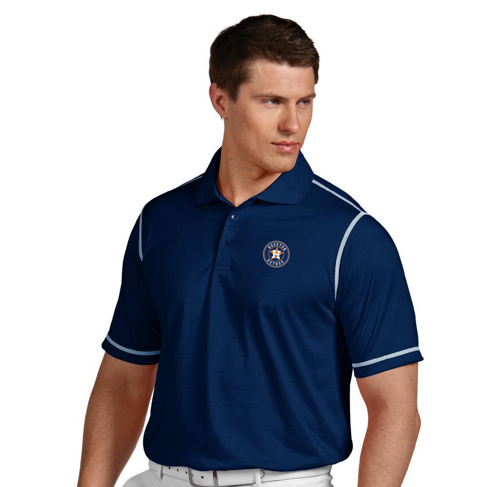 アンティグア Antigua メンズ トップス ポロシャツ【Houston Astros Icon Pique Tonal Striped Short Sleeved Polo】Navy