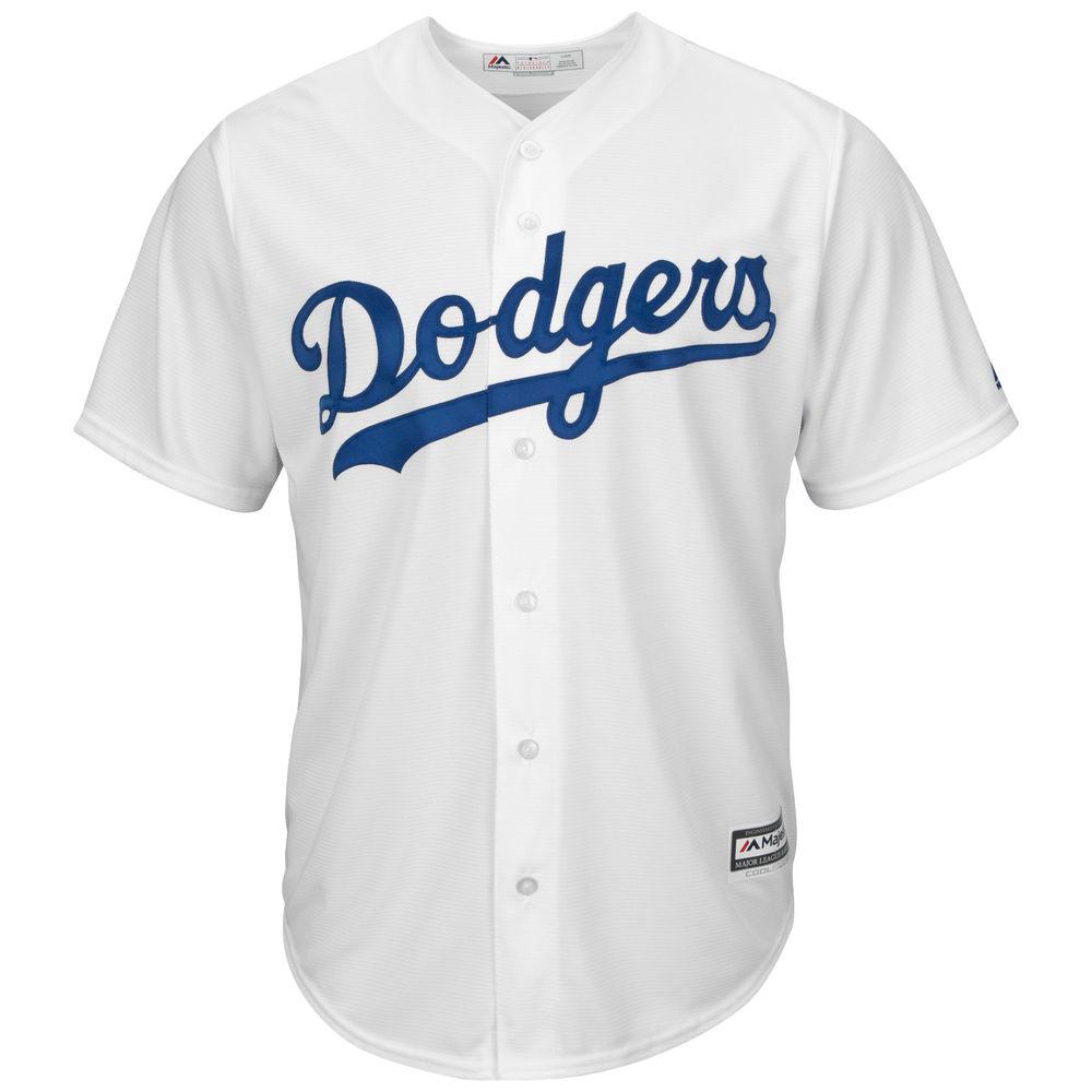 マジェスティック Majestic メンズ トップス【Los Angeles Dodgers Adult Cool Base Replica Jersey】White
