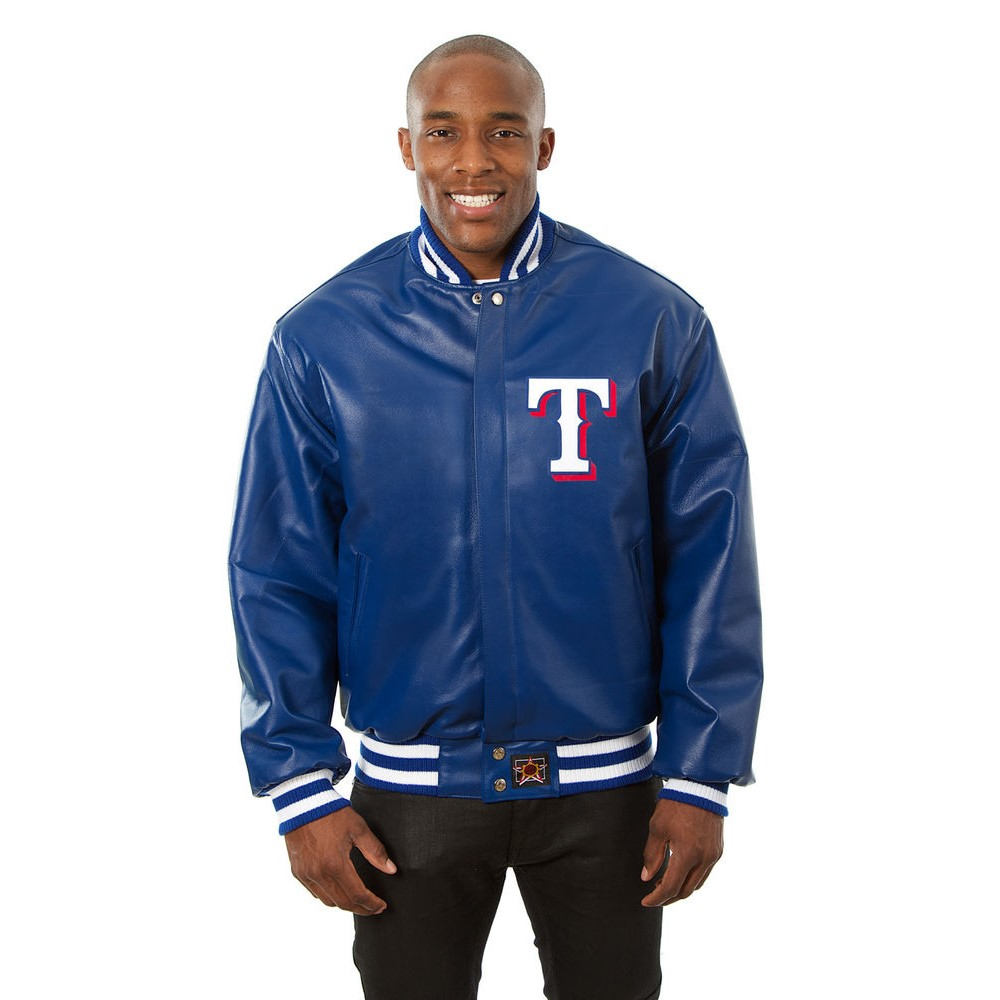 JH デザイン JH Design メンズ アウター レザージャケット【Texas Rangers Adult Leather Jacket】Royal