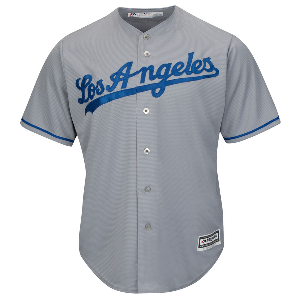 マジェスティック Majestic メンズ トップス【Los Angeles Dodgers Adult Cool Base Replica Jersey】Grey