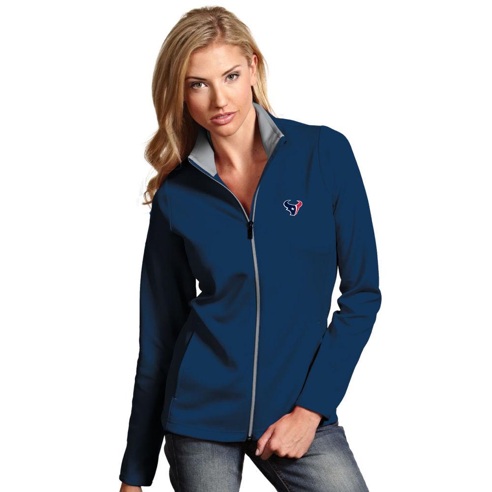 アンティグア Antigua レディース トップス【Houston Texans Heavy Jersey Full Zip Pullover】Navy/Silver