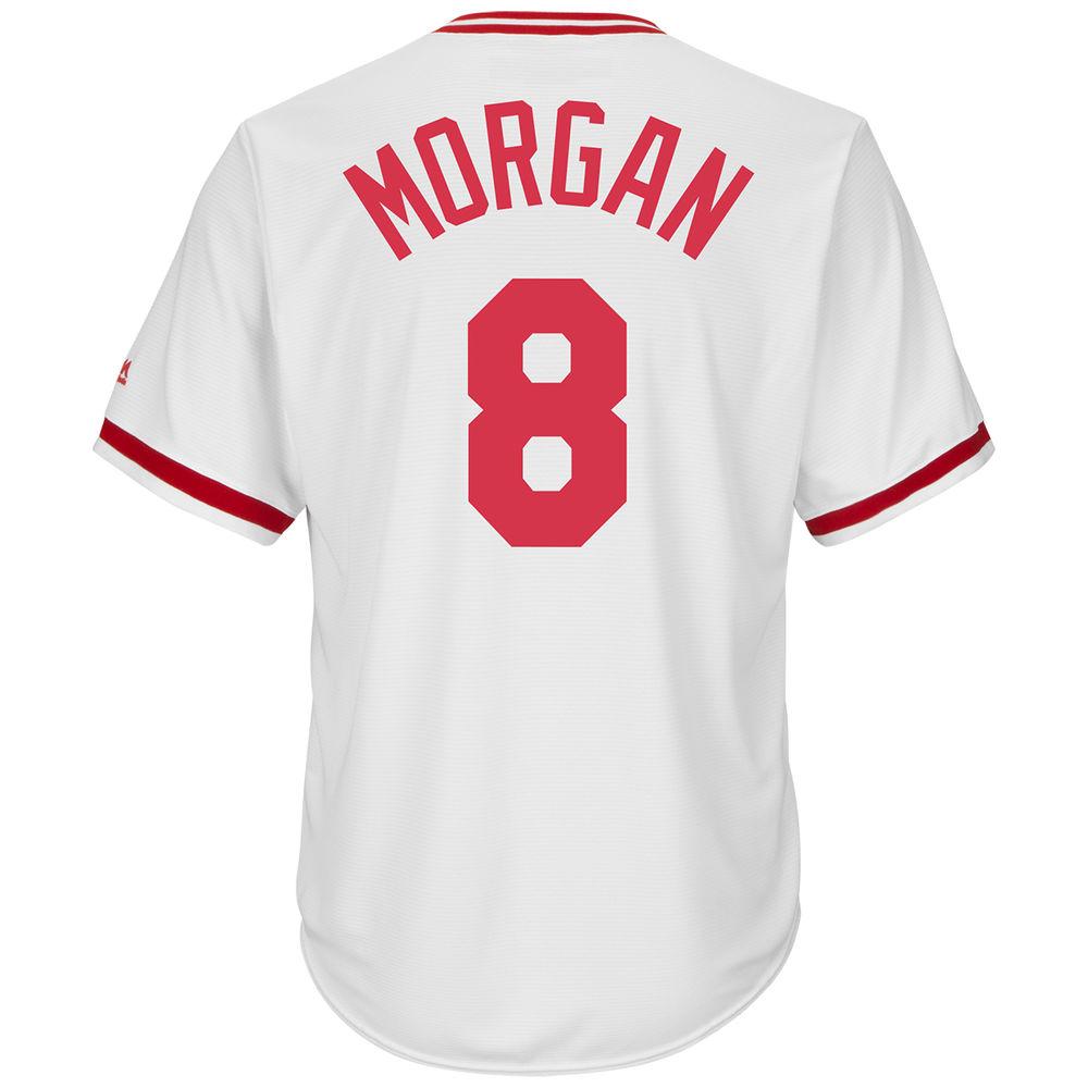 マジェスティック Majestic メンズ トップス【Cincinnati Reds Adult Joe Morgan Cooperstown Collection Cool Base Jersey】White