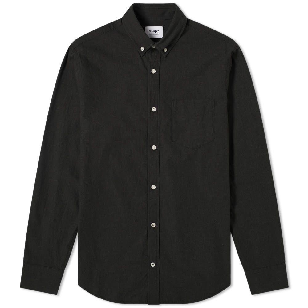 NN07 メンズ シャツ フランネルシャツ トップス【levon flannel shirt】Black