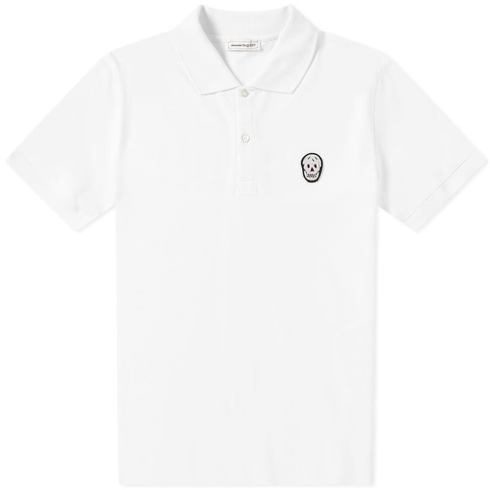アレキサンダー マックイーン Alexander McQueen メンズ ポロシャツ トップス【classic skull polo】White