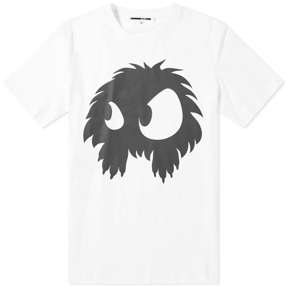 アレキサンダー マックイーン McQ Alexander McQueen メンズ Tシャツ トップス【monster embossed tee】Optic White/Black