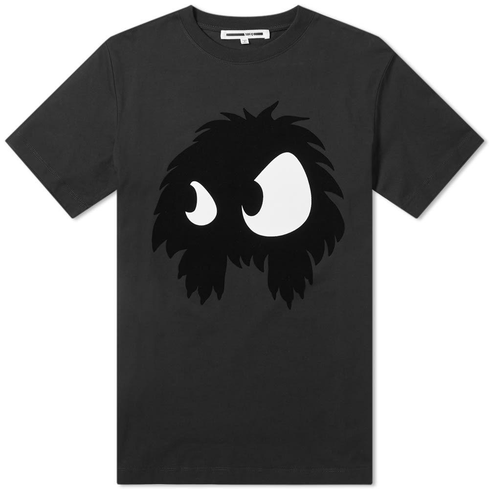 アレキサンダー マックイーン McQ Alexander McQueen メンズ Tシャツ トップス【mcq by alexander mcqueen large monster tee】Darkest Black