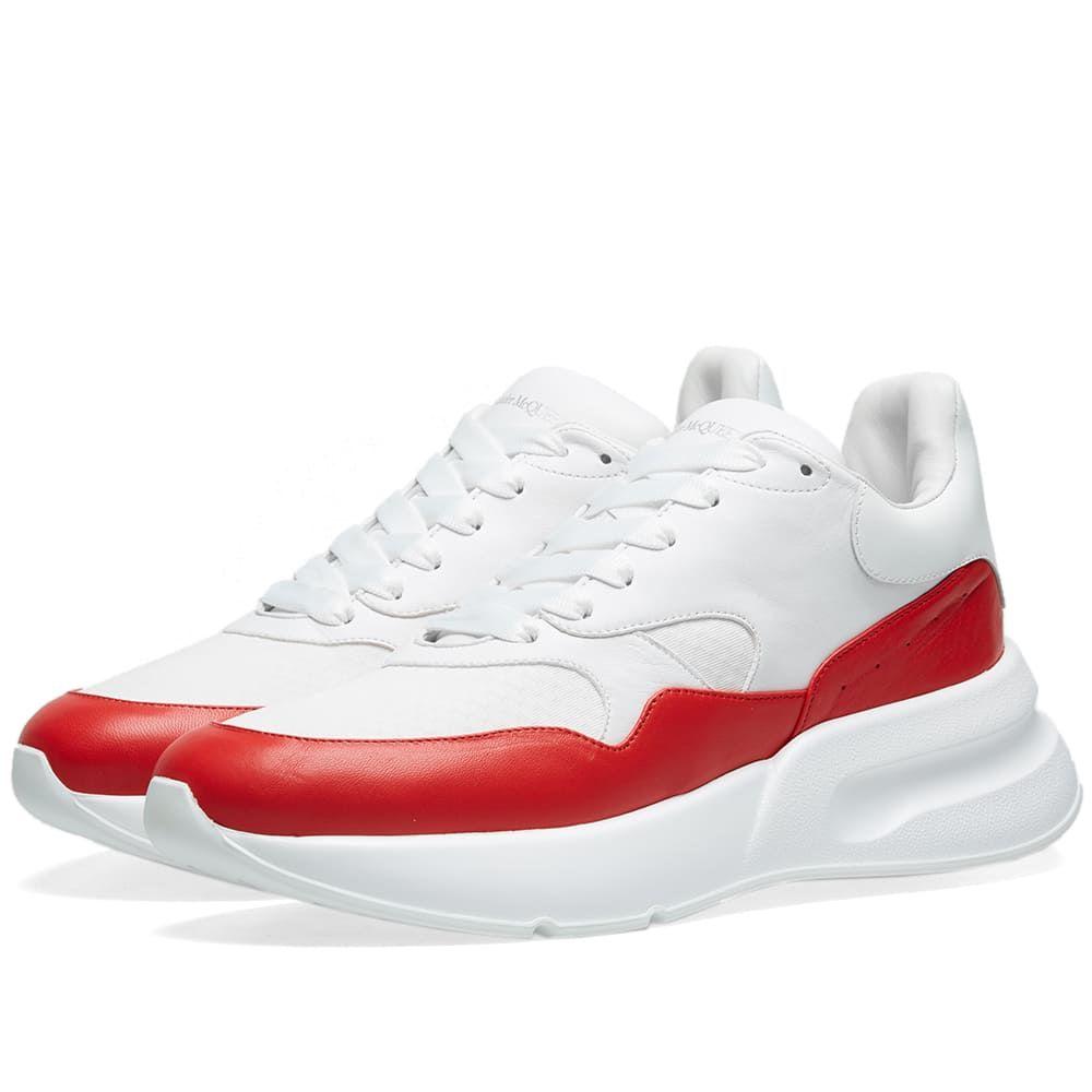 アレキサンダー マックイーン Alexander McQueen メンズ シューズ・靴 スニーカー【Apron Colour Wedge Sole Runner Sneaker】White/Red