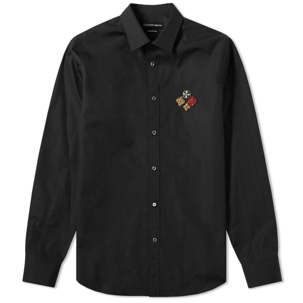 アレキサンダー マックイーン Alexander McQueen メンズ シャツ トップス【military badge logo shirt】Black