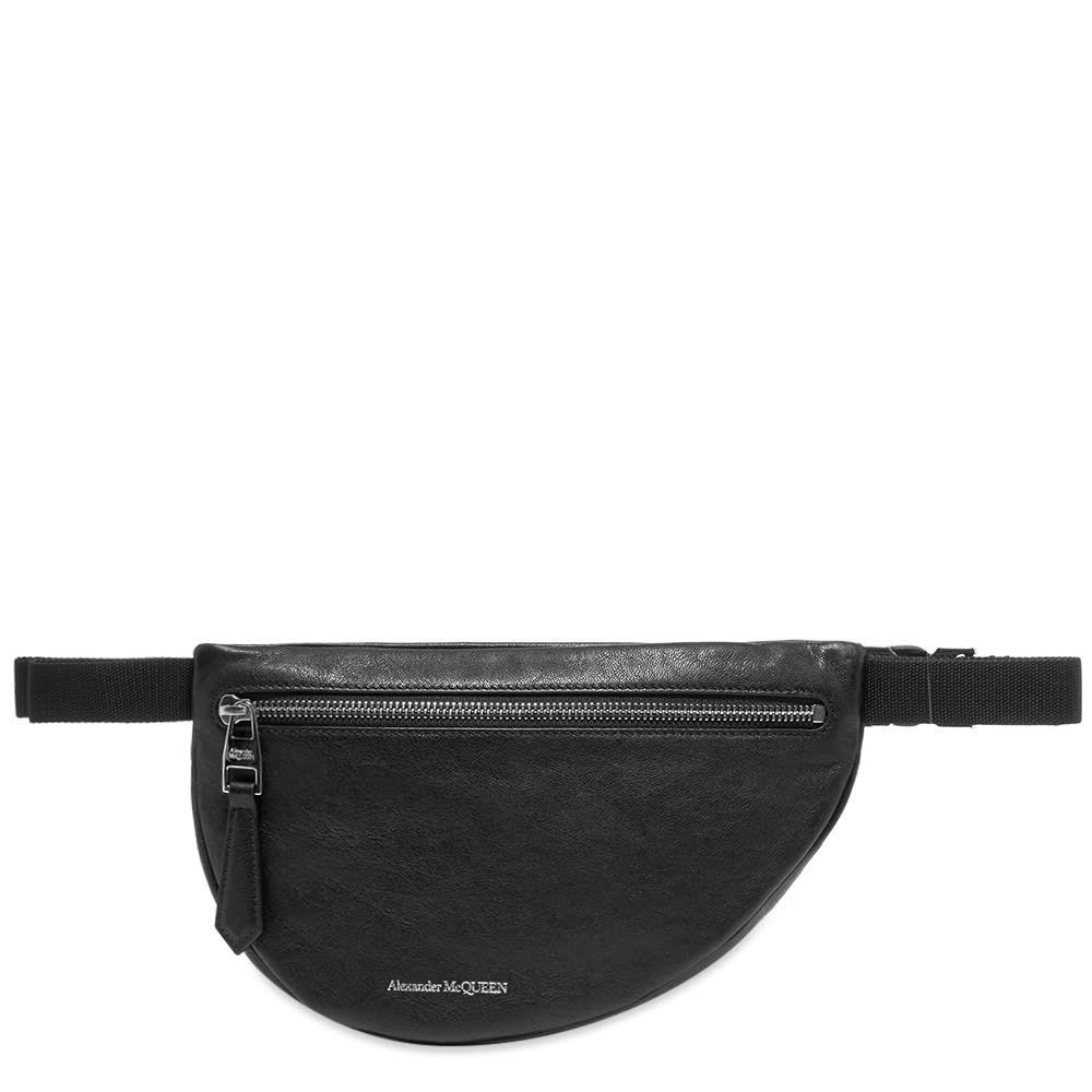 アレキサンダー マックイーン Alexander McQueen メンズ ボディバッグ・ウエストポーチ バッグ【leather waist bag】Black