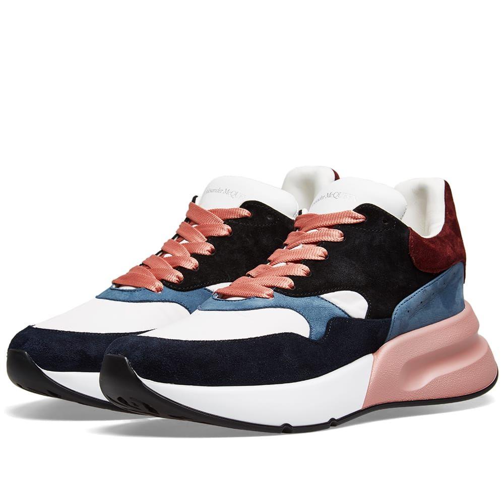 アレキサンダー マックイーン Alexander McQueen メンズ シューズ・靴 スニーカー【Suede Wedge Sole Runner Sneaker】White/Black
