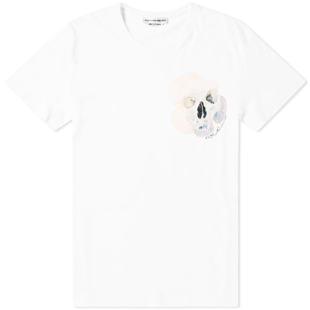 アレキサンダー マックイーン Alexander McQueen メンズ Tシャツ トップス【skull motif print tee】White/Mix