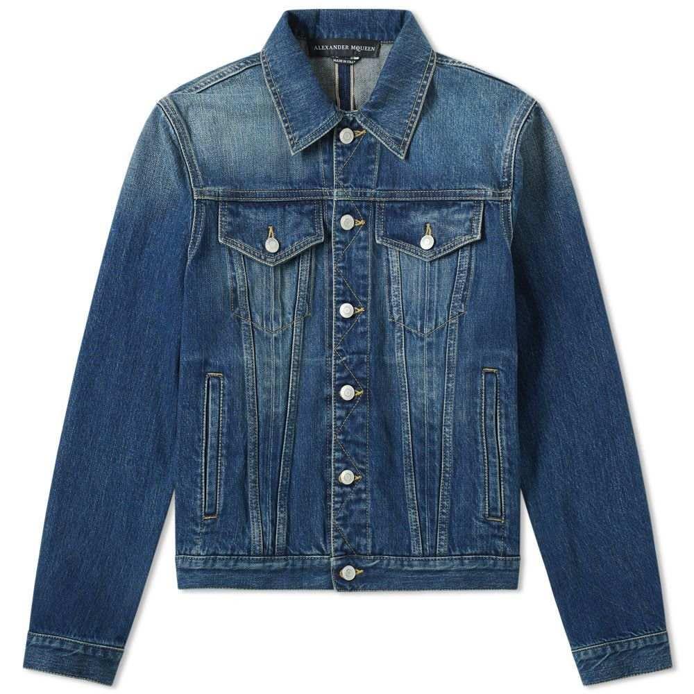 アレキサンダー マックイーン Alexander McQueen メンズ ジャケット Gジャン アウター【denim jacket】Blue Washed