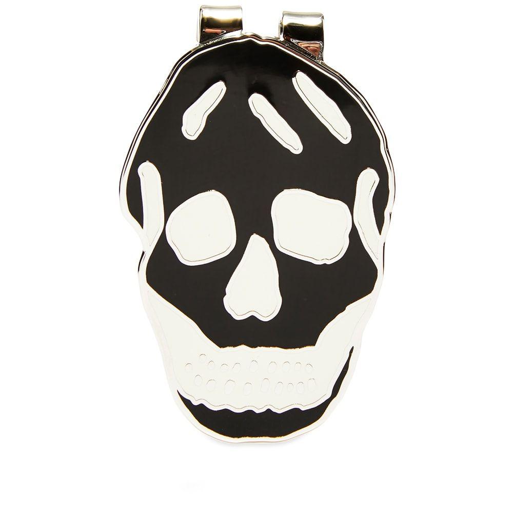 アレキサンダー マックイーン Alexander McQueen メンズ マネークリップ 【skull money clip】Black/White