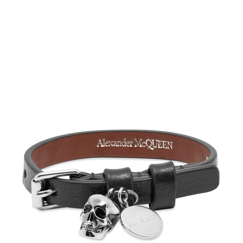 アレキサンダー マックイーン Alexander McQueen メンズ ブレスレット ラップブレス ジュエリー・アクセサリー【stud single wrap skull bracelet】Black/Silver