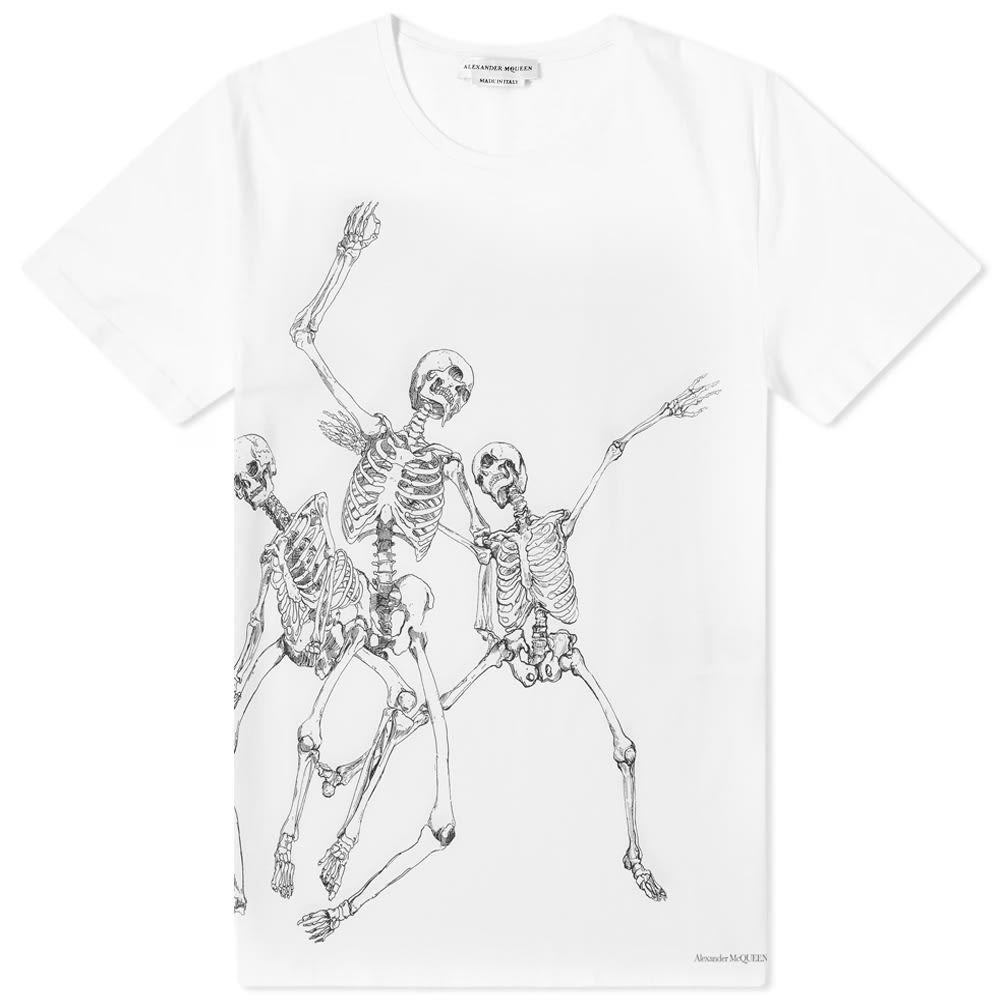 【人気商品】 アレキサンダー マックイーン Tシャツ tee】White/Mix Alexander マックイーン McQueen メンズ Tシャツ トップス【dancing skeleton tee】White/Mix:フェルマート, オーバーラグ:8ce453db --- nagari.or.id