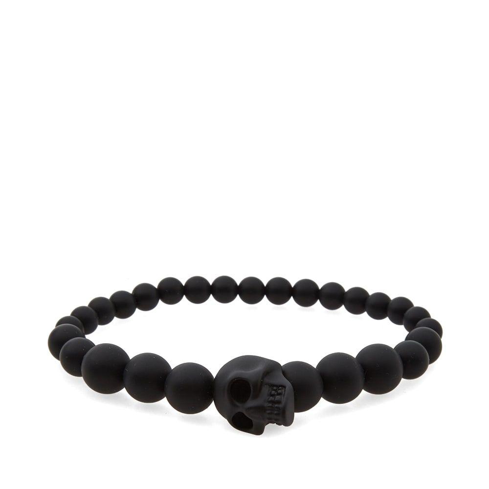 アレキサンダー マックイーン Alexander McQueen メンズ ブレスレット ジュエリー・アクセサリー【skull ball bracelet】Black