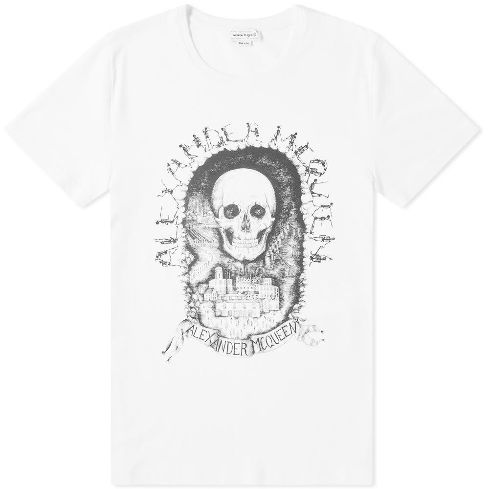 アレキサンダー マックイーン Alexander McQueen メンズ Tシャツ トップス【skull print tee】White/Multi