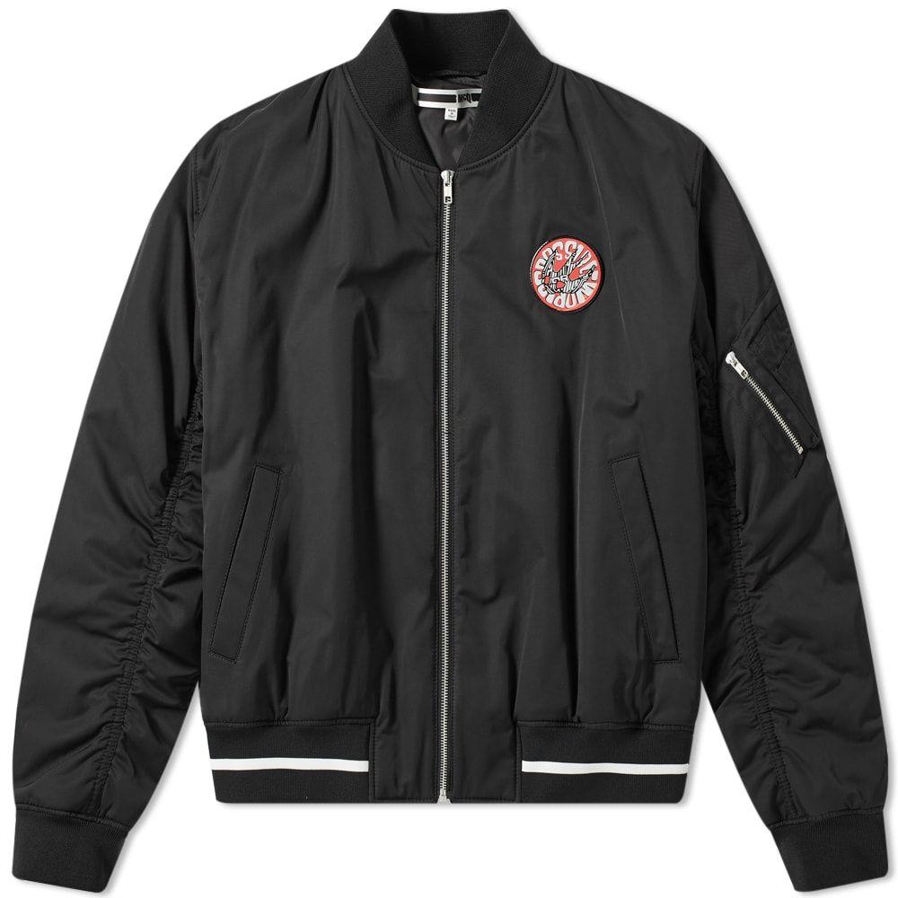 アレキサンダー マックイーン McQ Alexander McQueen メンズ ブルゾン アウター【patch ma-1 jacket】Darkest Black