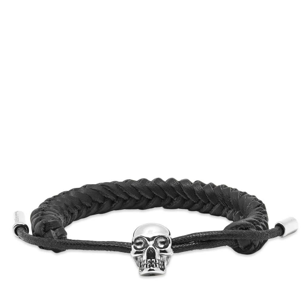 アレキサンダー マックイーン Alexander McQueen メンズ ブレスレット ジュエリー・アクセサリー【skull friendship bracelet】Black