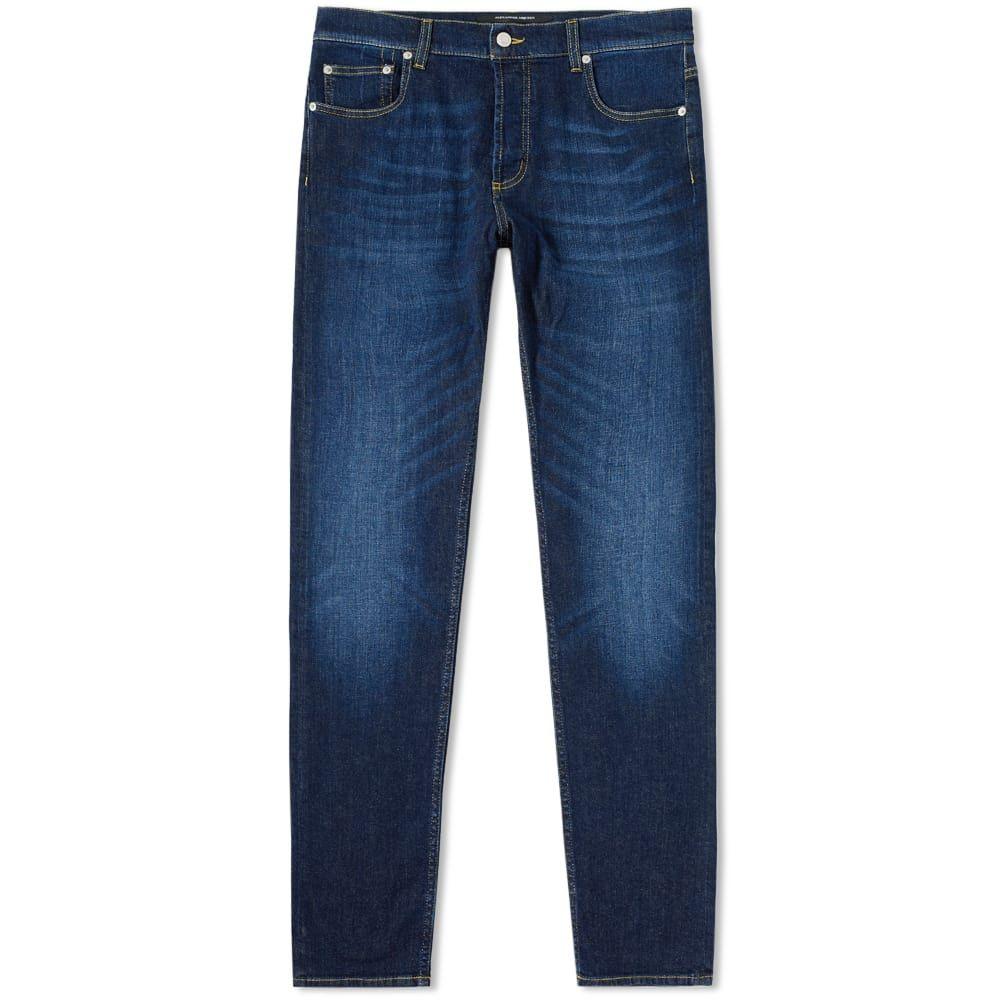 アレキサンダー マックイーン Alexander McQueen メンズ ジーンズ・デニム ボトムス・パンツ【slim embroidered pocket jean】Blue Wash