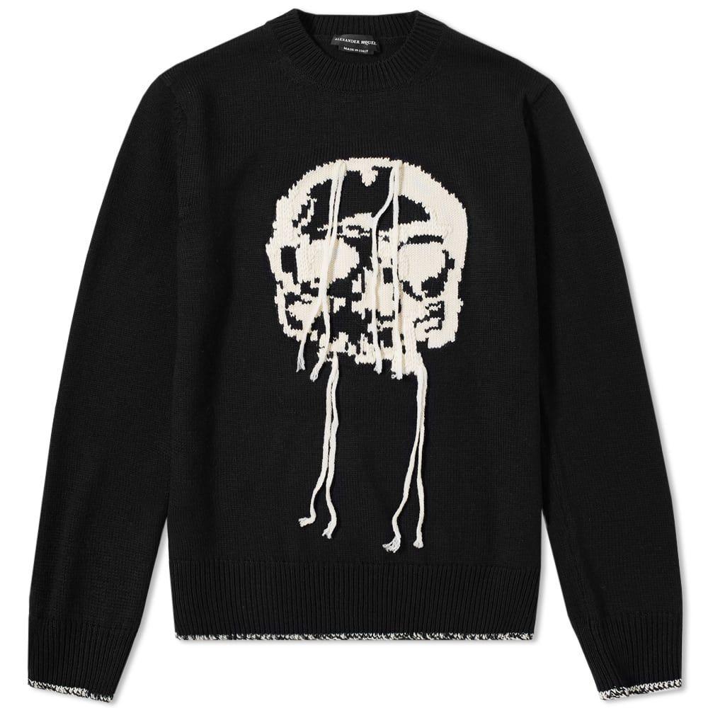 超高品質で人気の アレキサンダー マックイーン Alexander McQueen メンズ メンズ ニット・セーター トップス knit】Black/Bone intarsia【skull intarsia fringed crew knit】Black/Bone:フェルマート, Fashion Recycle ビーコレクト:01bac606 --- nagari.or.id