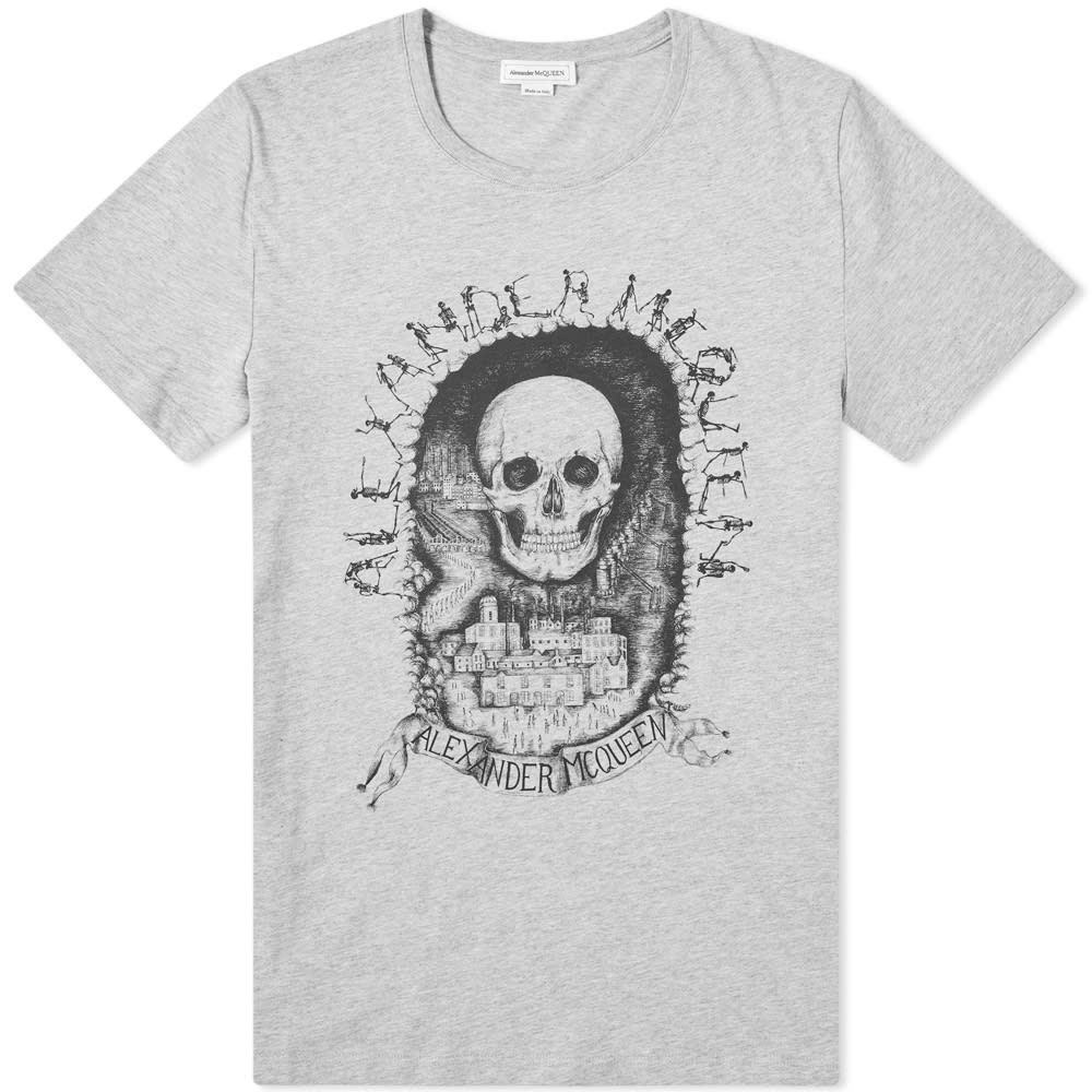 アレキサンダー マックイーン Alexander McQueen メンズ Tシャツ トップス【skull print tee】Pale Grey/Multi