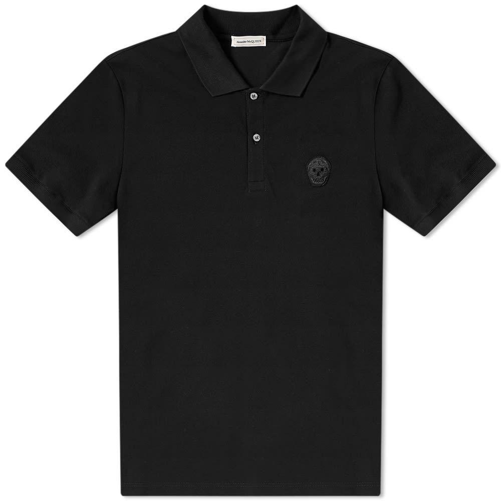 アレキサンダー マックイーン Alexander McQueen メンズ ポロシャツ トップス【classic skull polo】Black