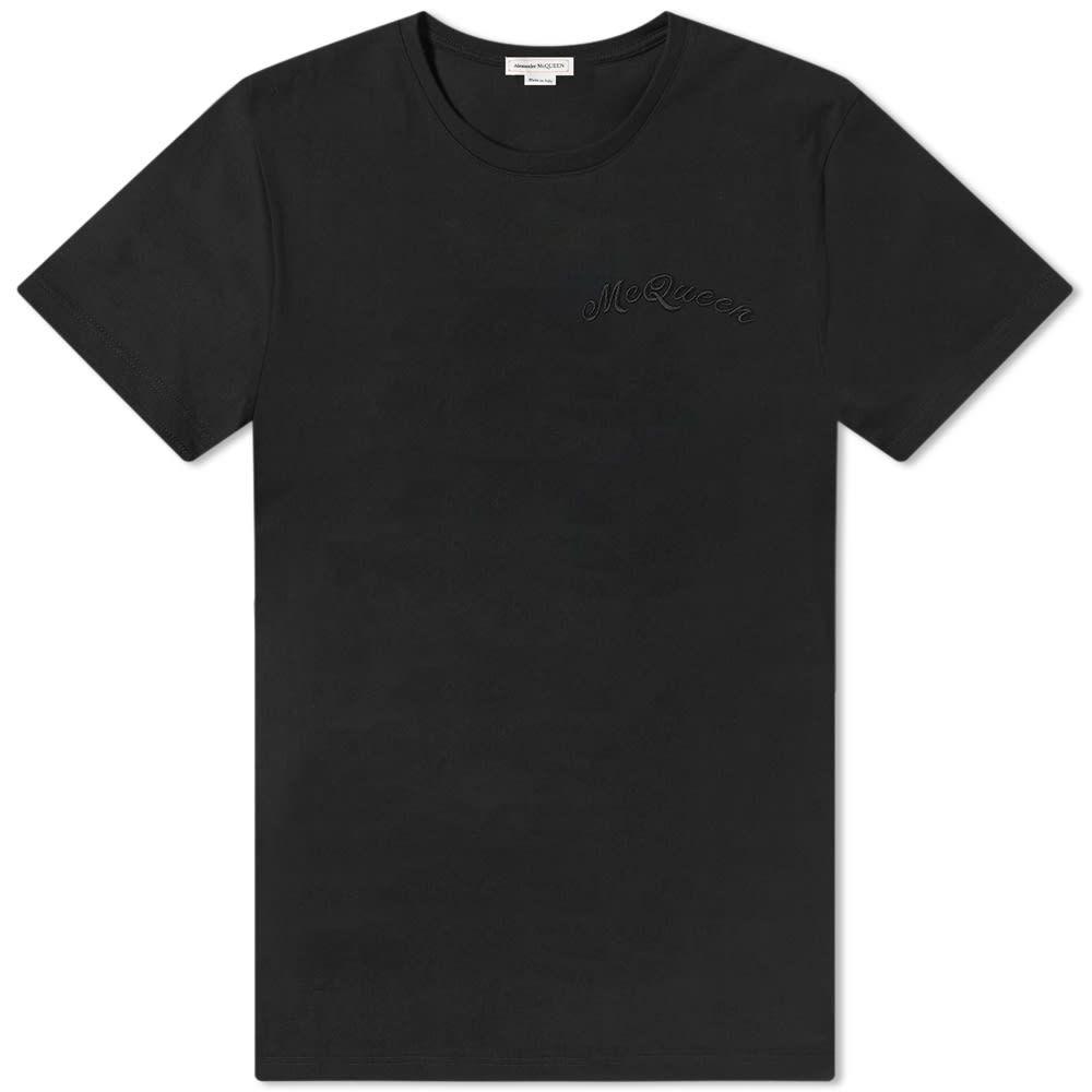 アレキサンダー マックイーン Alexander McQueen メンズ Tシャツ トップス【mcqueen script tee】Black