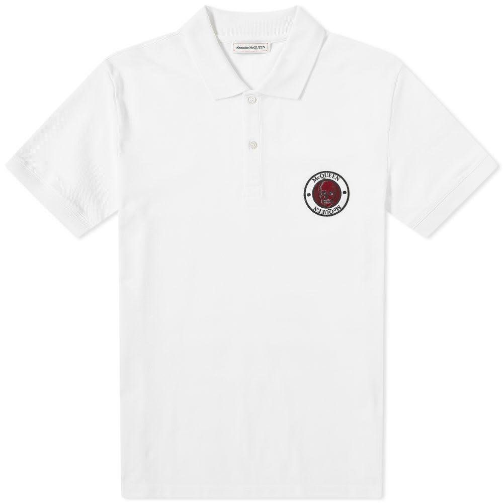 アレキサンダー マックイーン Alexander McQueen メンズ ポロシャツ トップス【skull patch logo polo】White