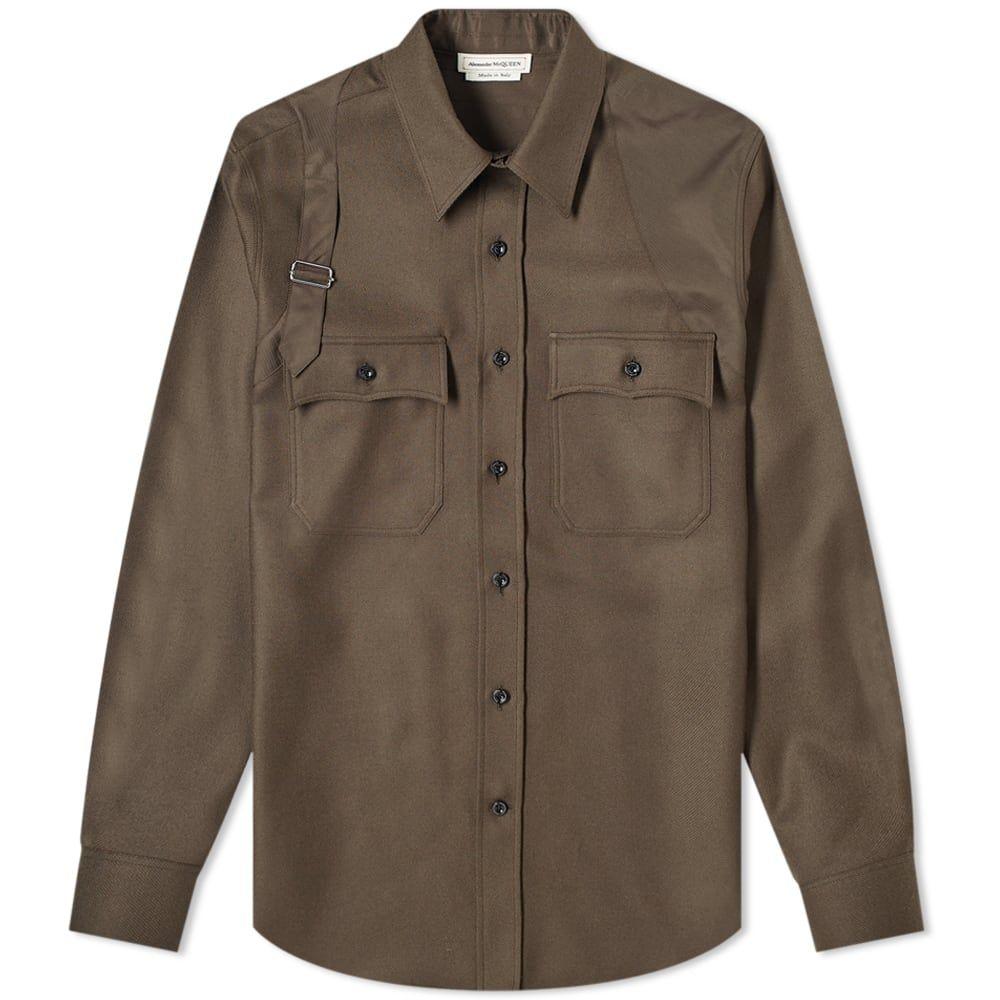 アレキサンダー マックイーン Alexander McQueen メンズ ジャケット オーバーシャツ アウター【harness overshirt】Umber