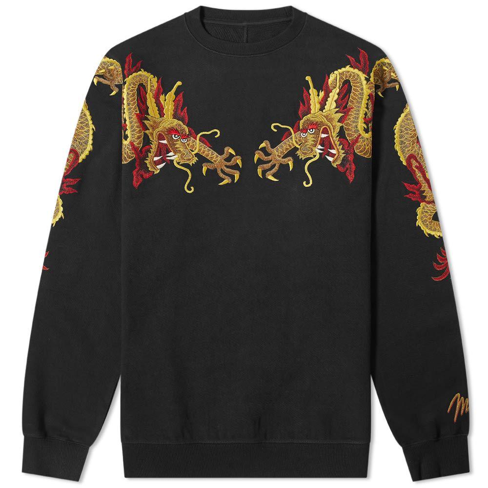 ファッションなデザイン マハリシ Maharishi メンズ Maharishi スウェット・トレーナー トップス マハリシ【Sun トップス【Sun Dragon Embroidered Sweat】Black Gold:フェルマート, PHANTOM:f9a093ee --- nagari.or.id