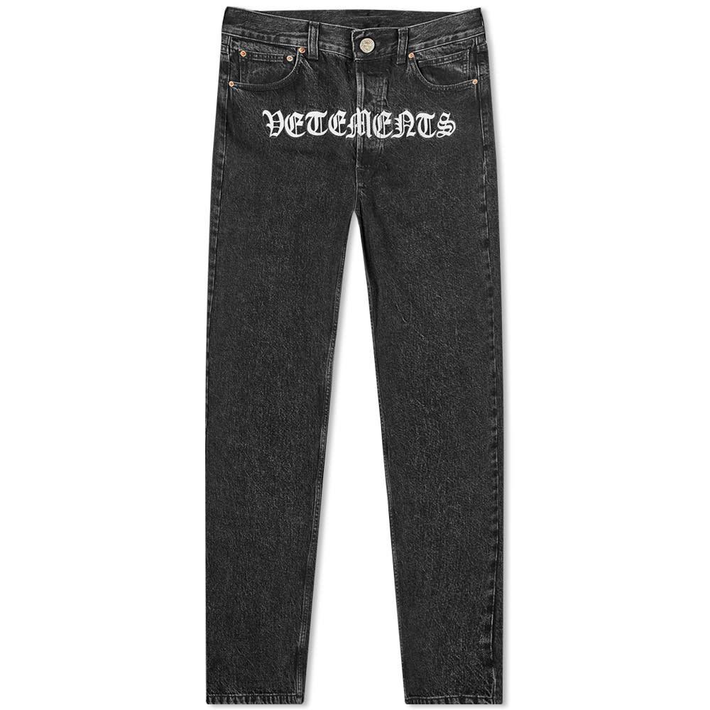 ヴェトモン VETEMENTS メンズ ジーンズ・デニム ボトムス・パンツ【Gothic Jean】Black
