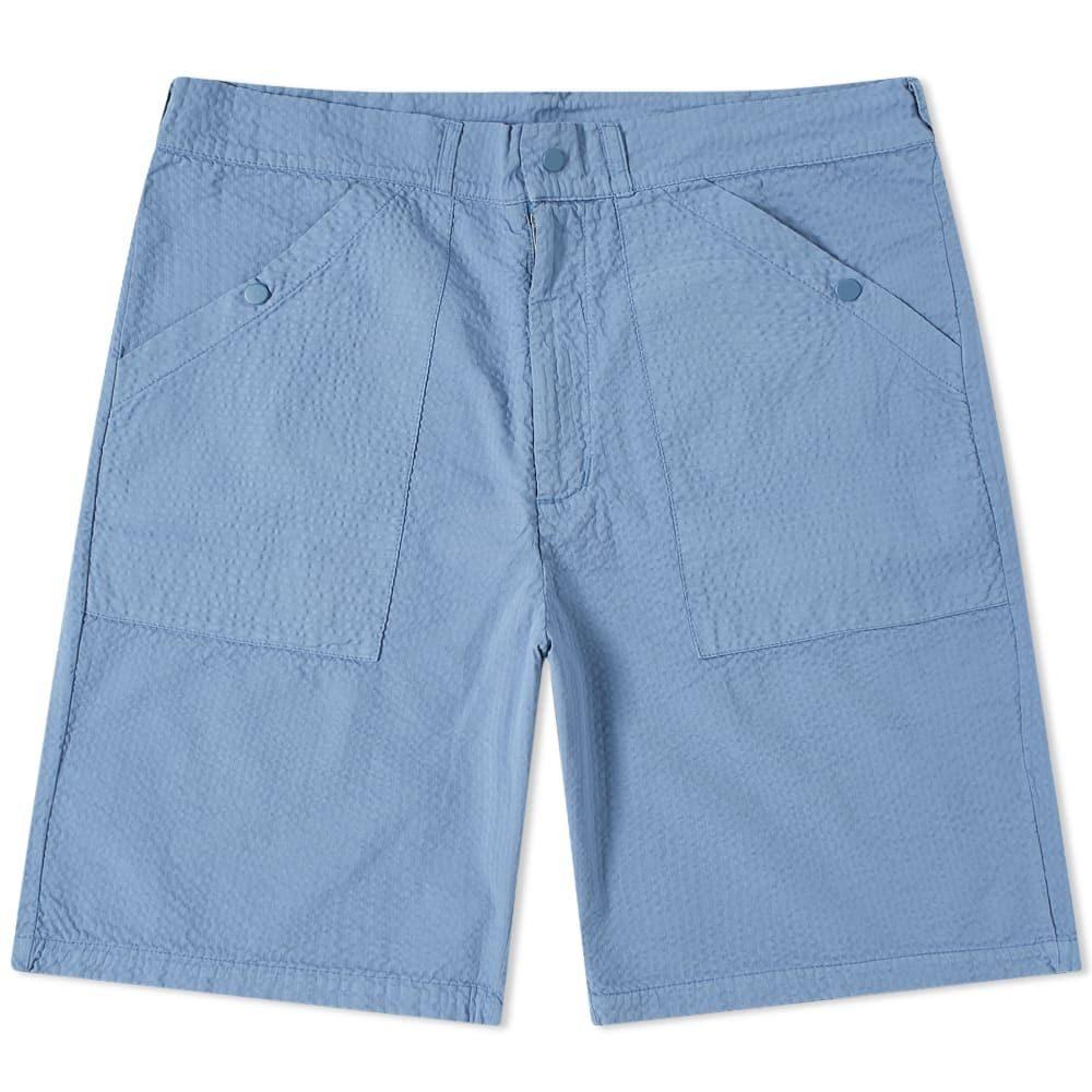 レ ベーシックス Les Basics メンズ ショートパンツ ボトムス・パンツ【Le Patch Short】Cornflower
