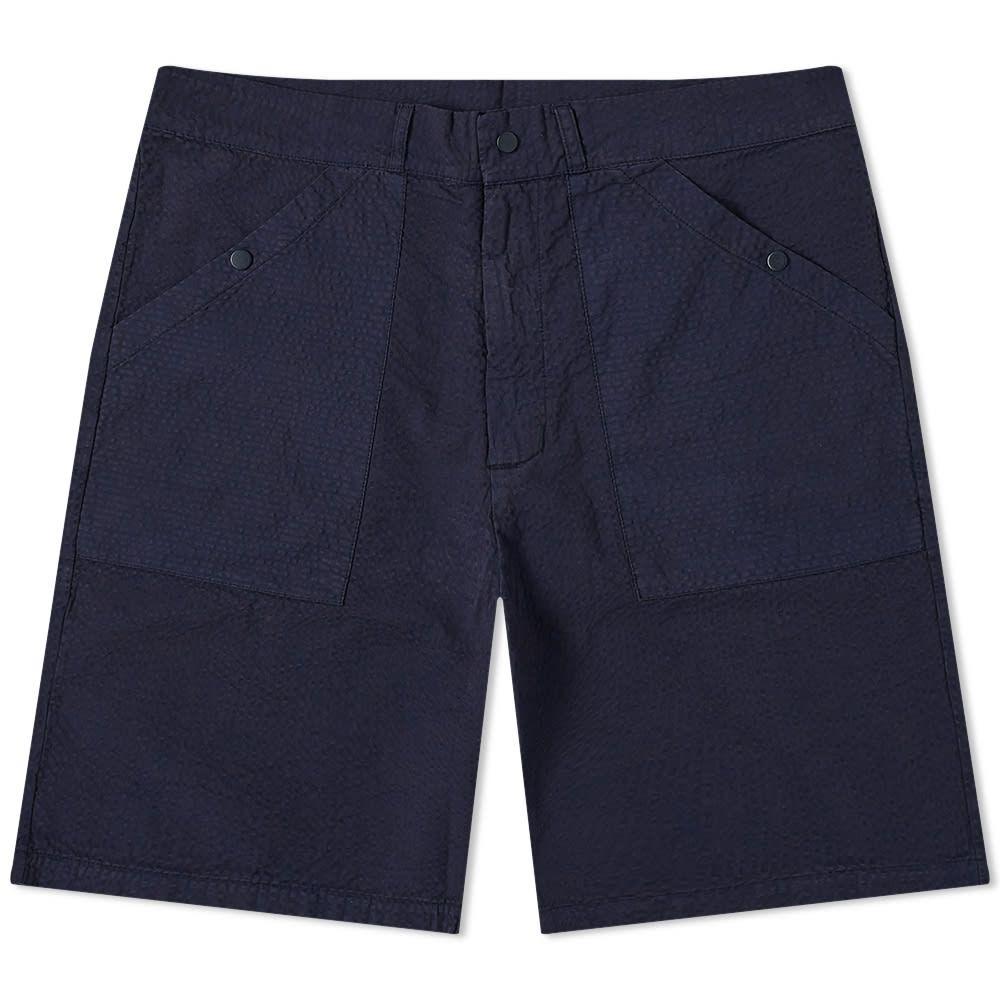 レ ベーシックス Les Basics メンズ ショートパンツ ボトムス・パンツ【Le Patch Short】Navy