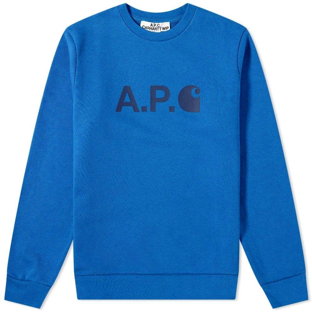 アーペーセー A.P.C. メンズ スウェット・トレーナー トップス【x Carhartt WIP Ice Logo Sweat】Royal Blue